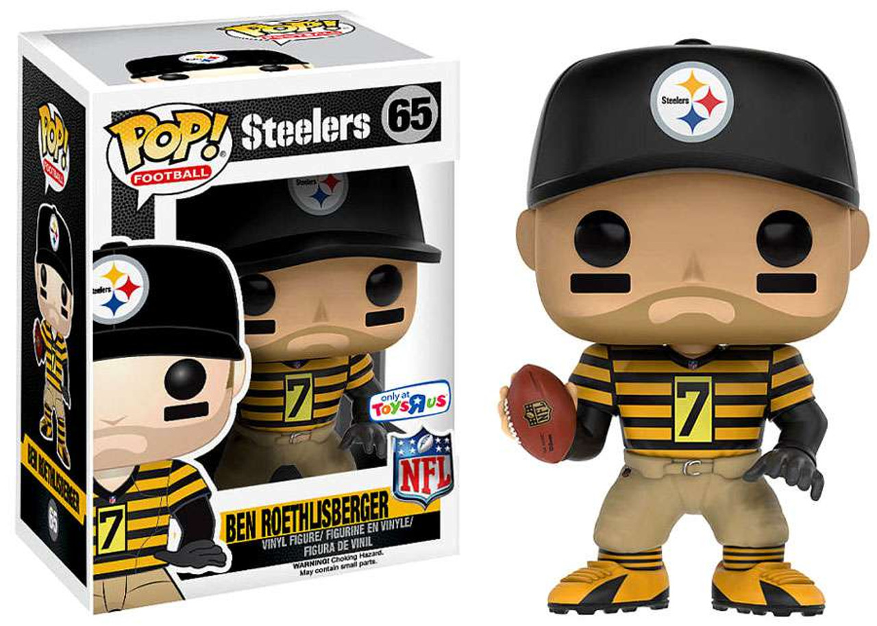 32ac1cee912 Funko NFL Pittsburgh Steelers Funko POP Sports Ben Roethlisberger Exclusive  Vinyl Figure 65 Throwback Jersey - ToyWiz