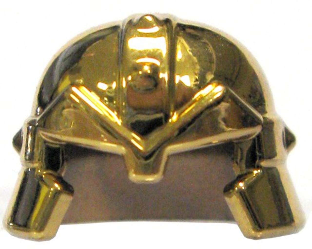 28a83486 LEGO Castle Headgear Gold Chrome Dwarf Helmet Loose - ToyWiz