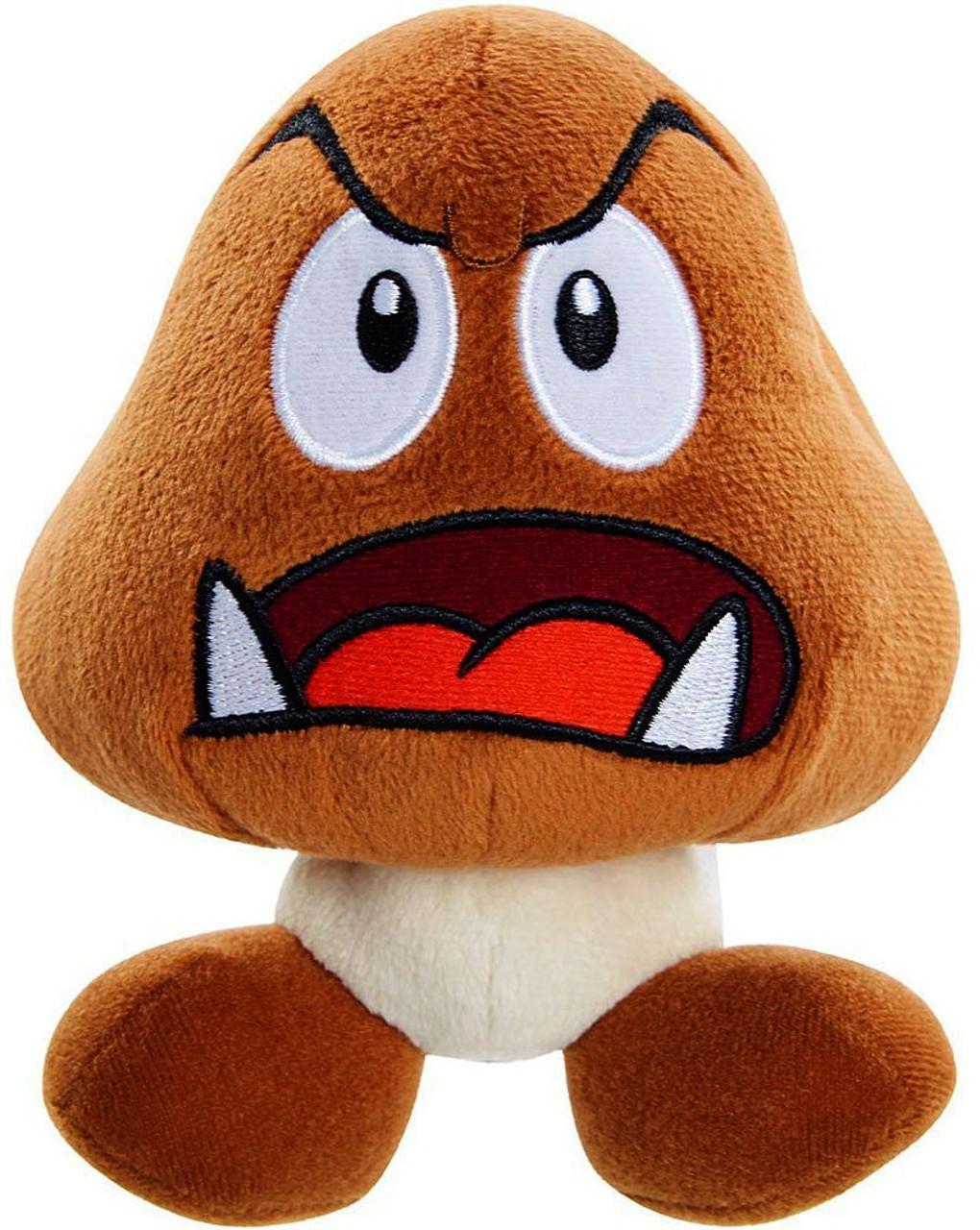 World of Nintendo Super Mario Goomba 6-Inch Plush [Open Mouth]