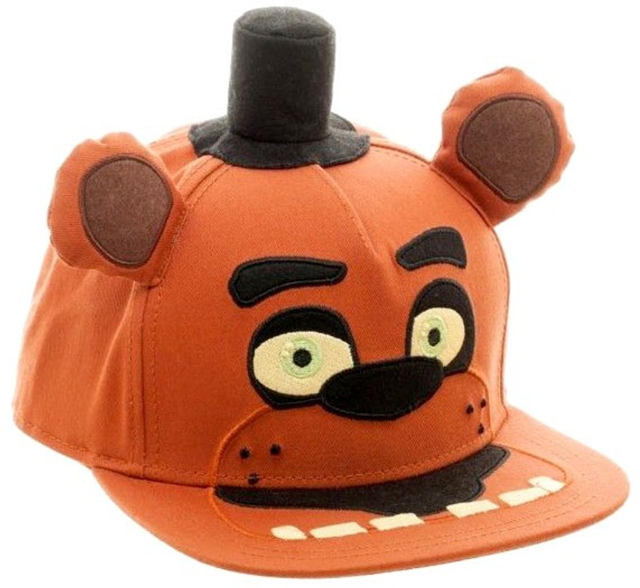 dd56b3d5e73622 Five Nights at Freddys Big Face Plush Snapback Baseball Cap Bioworld -  ToyWiz