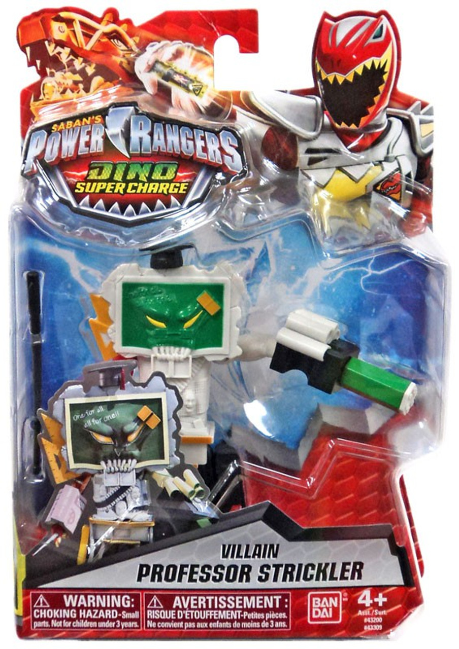 "Power Rangers Dino Super Charge Villain Professor Strickler 5/"" Figure New"