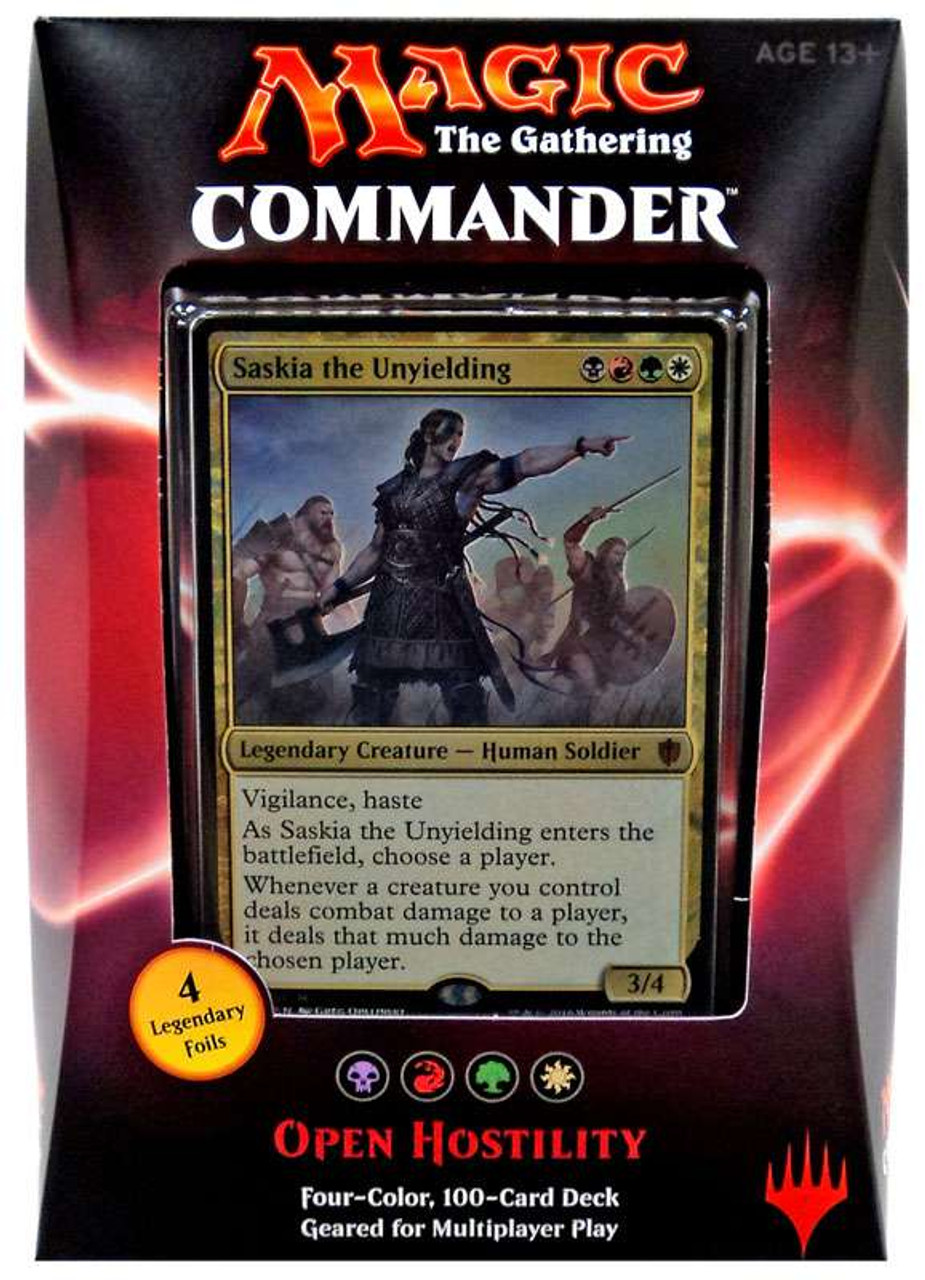 Human Soldier Mythic SASKIA THE UNYIELDING NM mtg Commander 2016 Gold
