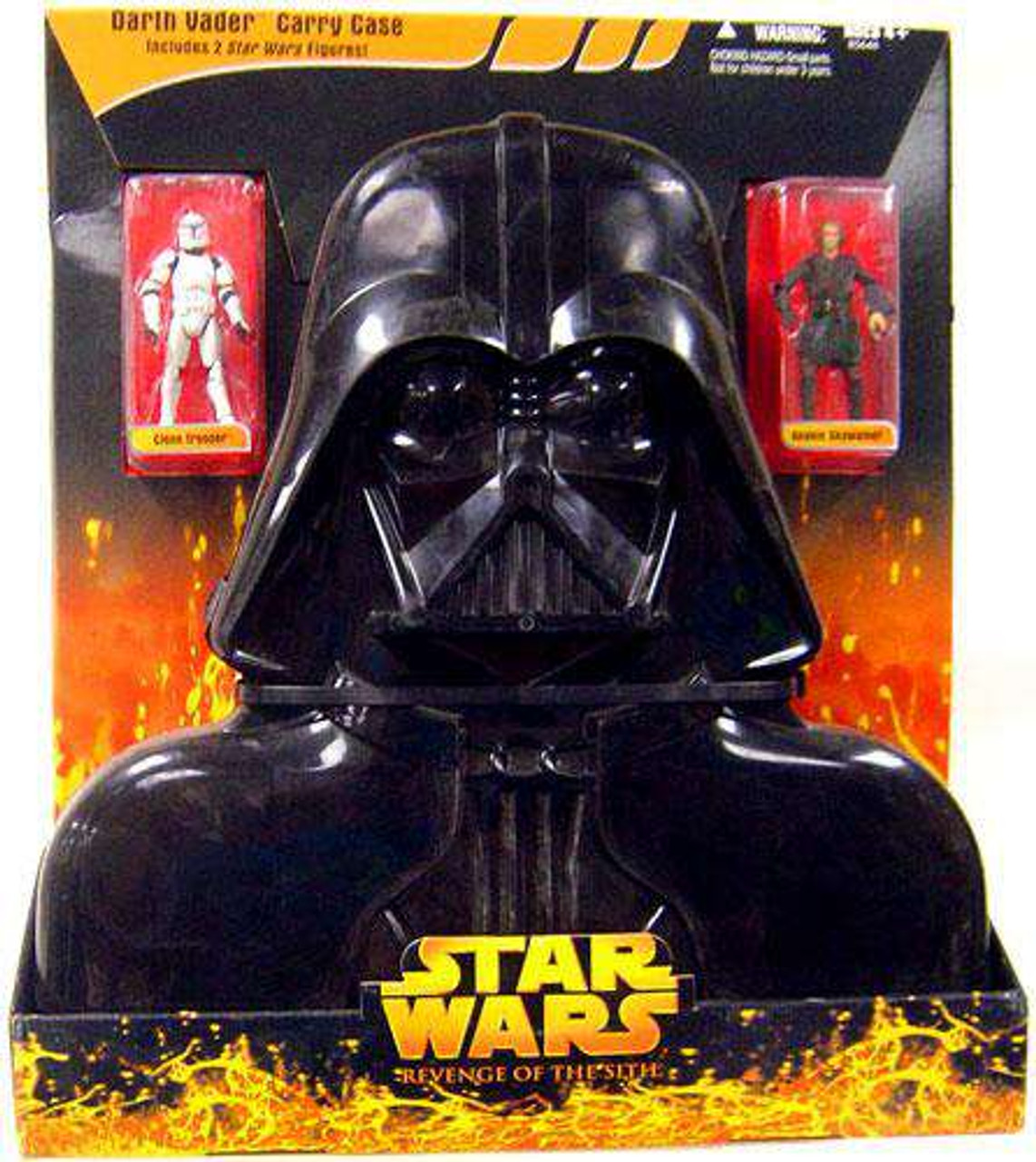 Star Wars Revenge Of The Sith Darth Vader 3 75 Carry Case Damaged Package Hasbro Toys Toywiz
