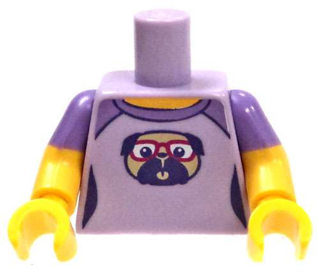 Lego Star Wars Dark Purple Torso Sweater over Dark Blue Shirt Large Yellow Belt