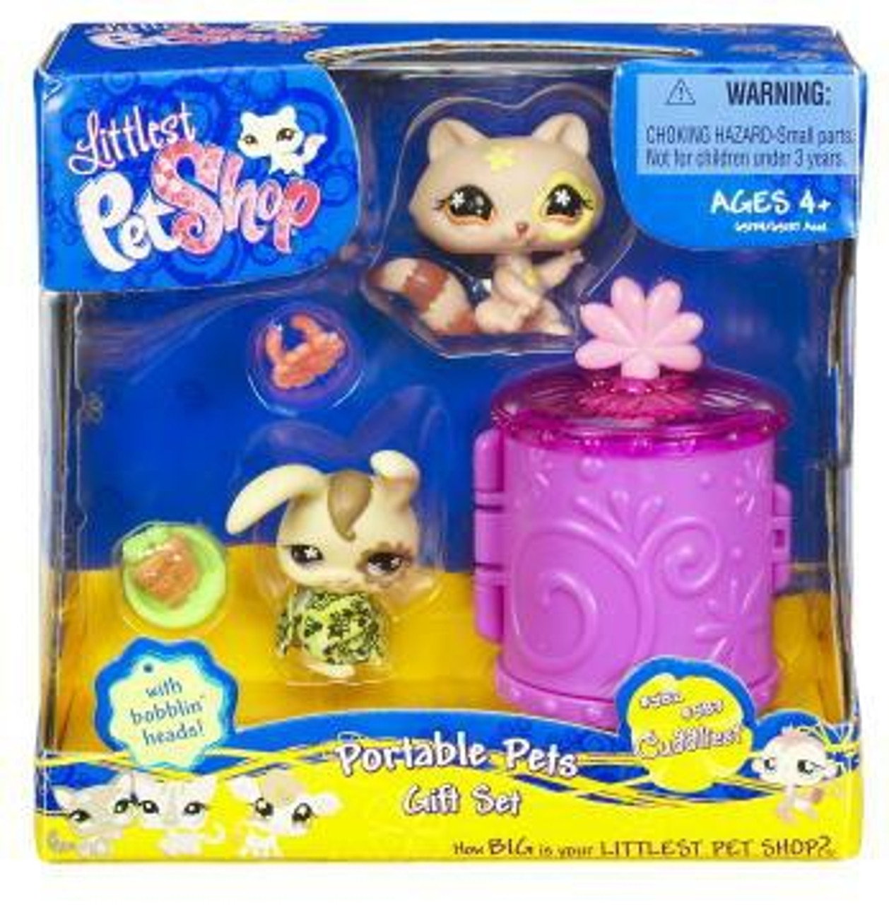 Littlest Pet Shop Exclusive Portable Pets Gift Set with Tree Frog /& Hermit Crab
