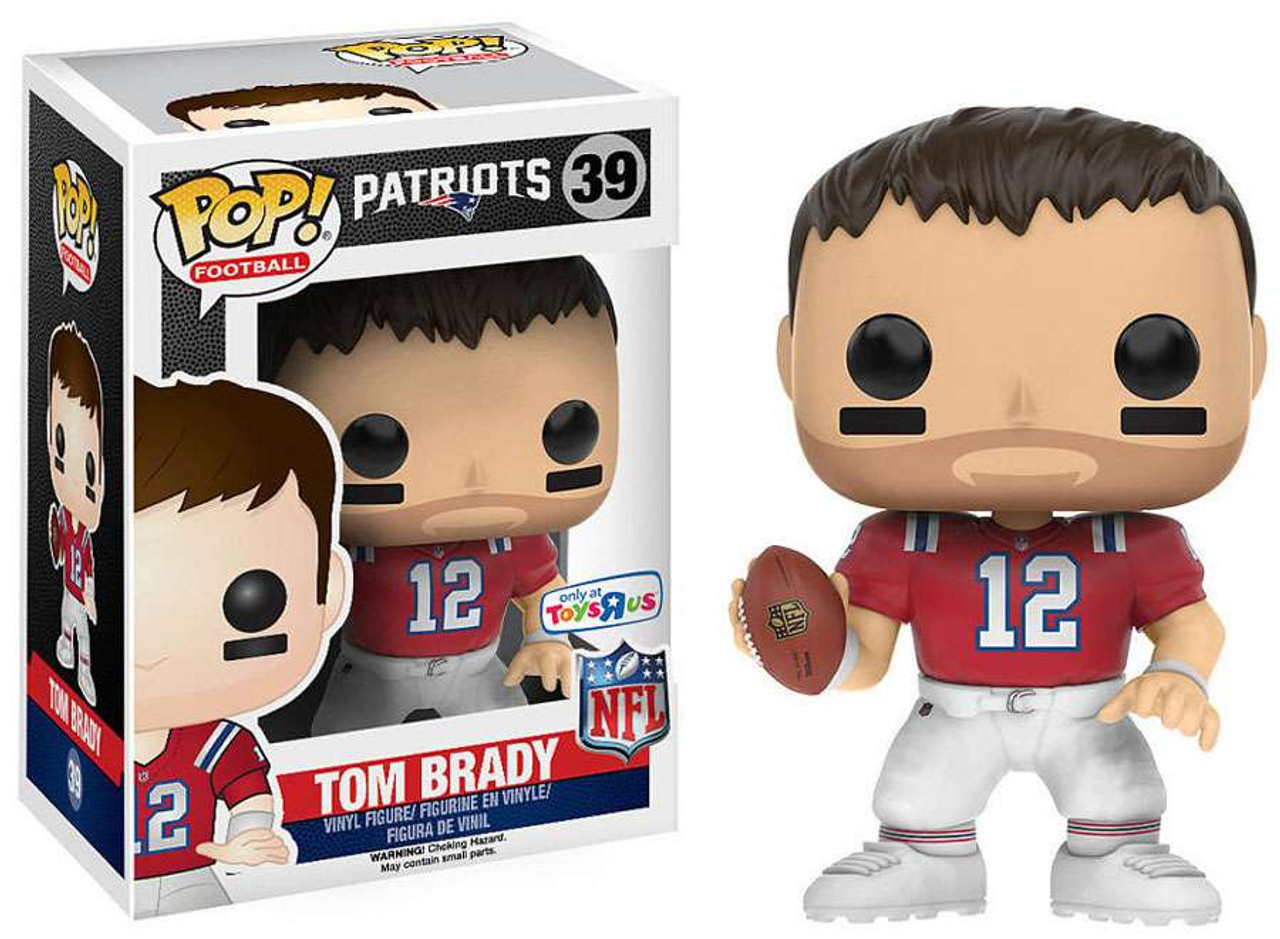 sale retailer 51968 28725 NFL New England Patriots Funko POP! Sports Tom Brady Exclusive Vinyl Figure  #39 [Throwback Jersey, Damaged Package]