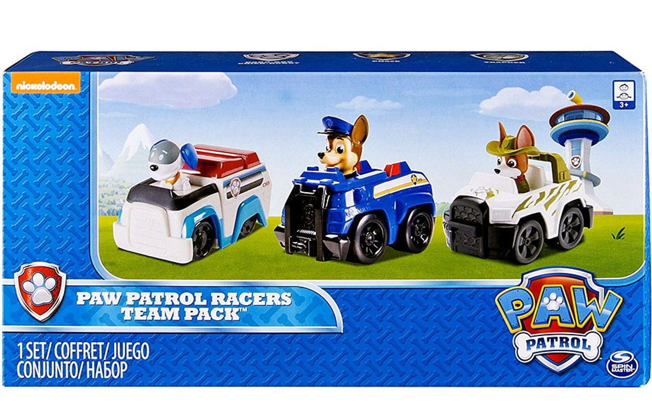 21520246a Paw Patrol Rescue Racer Paw Patrol Racers Team Pack Figure 3-Pack Robo-Dog,  Chase Tracker Spin Master - ToyWiz
