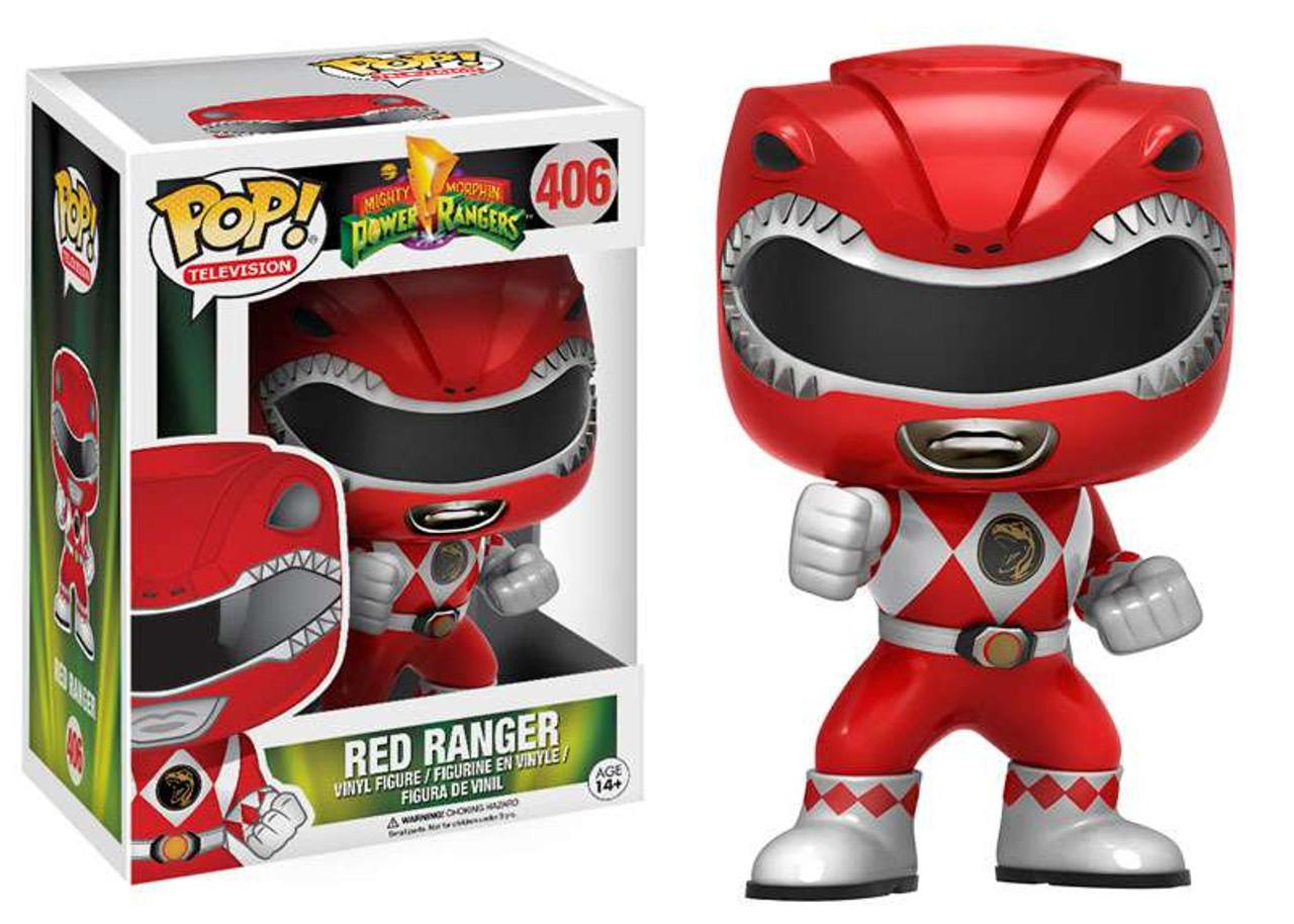 9292d82ded7 Funko Power Rangers Funko POP TV Red Ranger Vinyl Figure 406 Action - ToyWiz