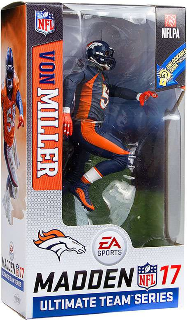 d97d4dac6 McFarlane Toys NFL Denver Broncos EA Sports Madden 17 Ultimate Team Series  2 Von Miller 7 Action Figure Blue Jersey - ToyWiz
