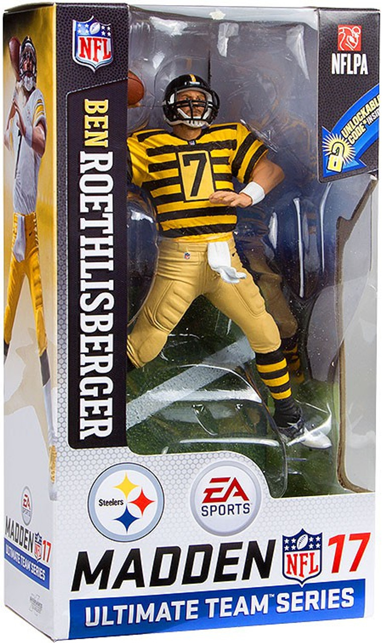 super popular a37e7 5f596 McFarlane Toys NFL Pittsburgh Steelers EA Sports Madden 17 Ultimate Team  Series 2 Ben Roethlisberger Action Figure [Throwback Jersey]