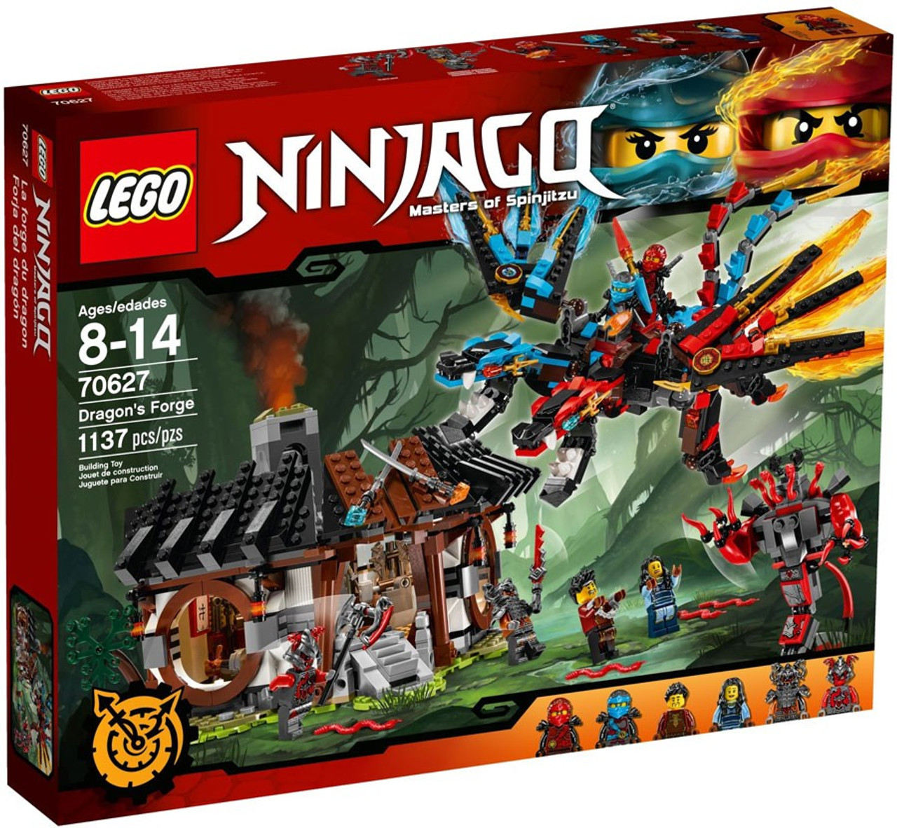 Lego Forge Set Toywiz 70627 Ninjago Dragons jq35AR4L