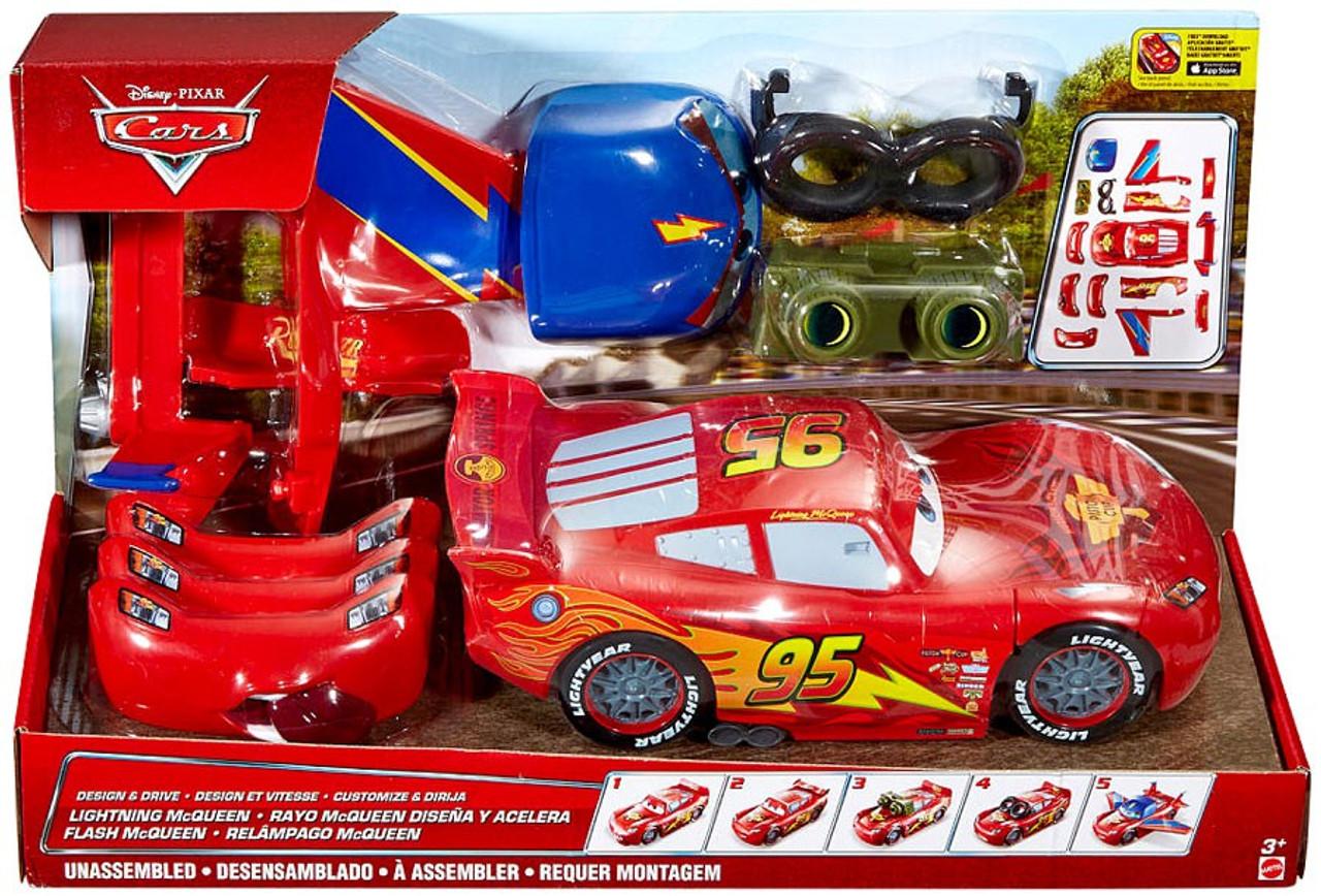 Disney Pixar Cars Design Drive Lightning Mcqueen Vehicle