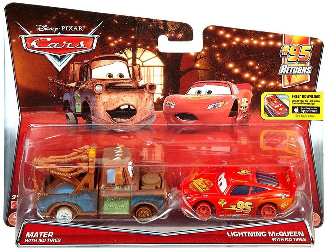 Disney Pixar Cars 95 Returns Mater With No Tires Lightning Mcqueen