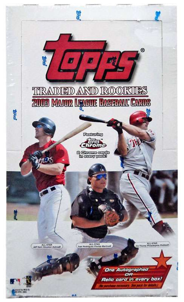 Mlb 2003 Topps Baseball Cards Traded Rookies Trading Card Hobby Box