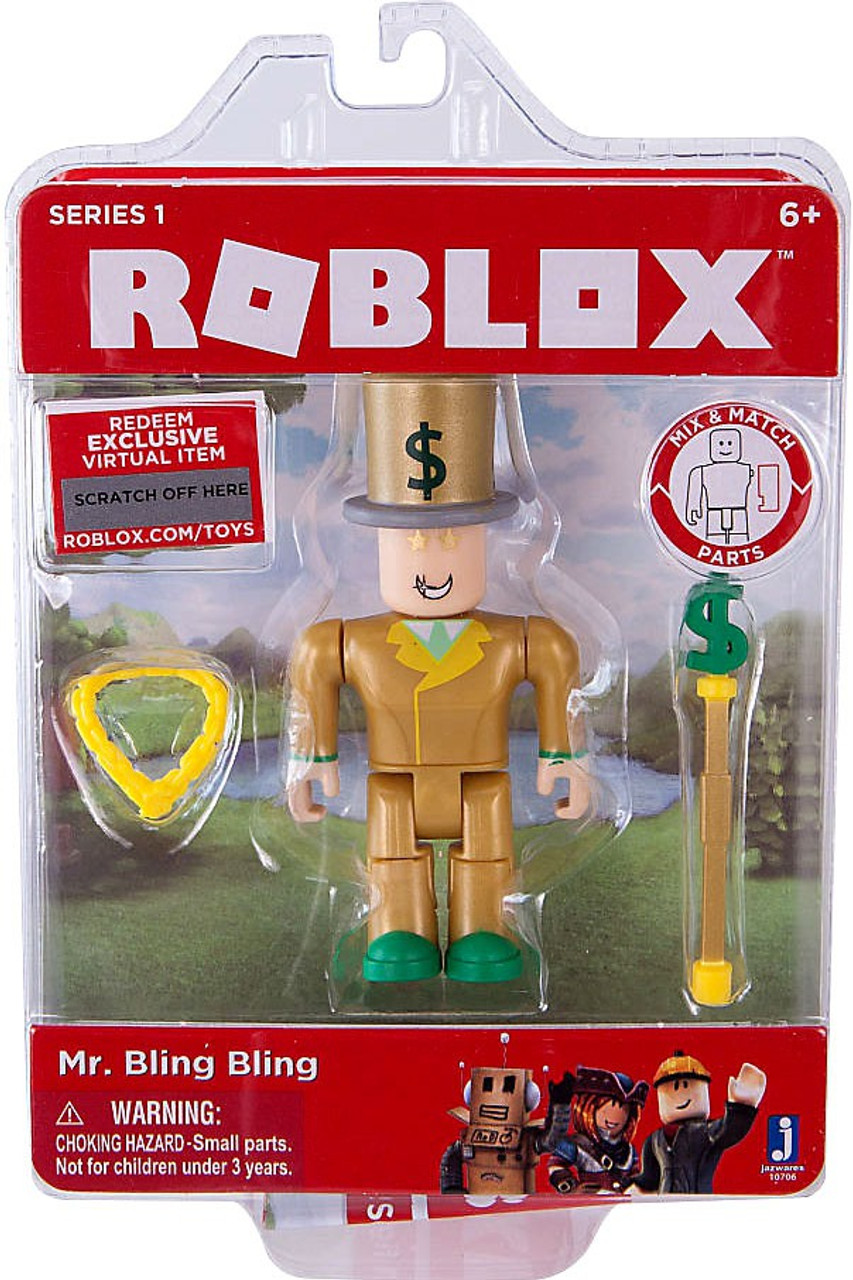Roblox Mr Bling Bling 3 Action Figure Jazwares Toywiz