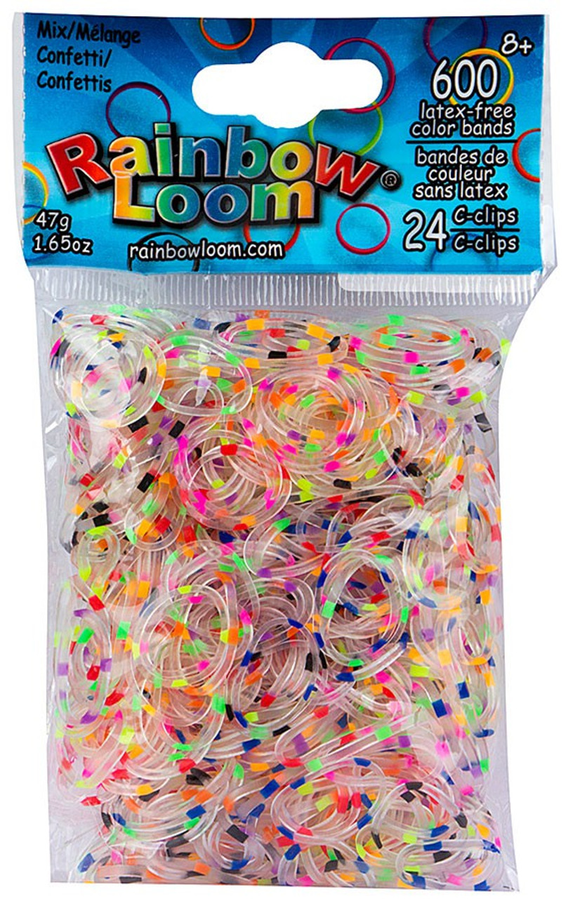 ~Brand New~ Rainbow Loom Rose Jelly Rubber Bands Refill C-clips Twistz Bandz
