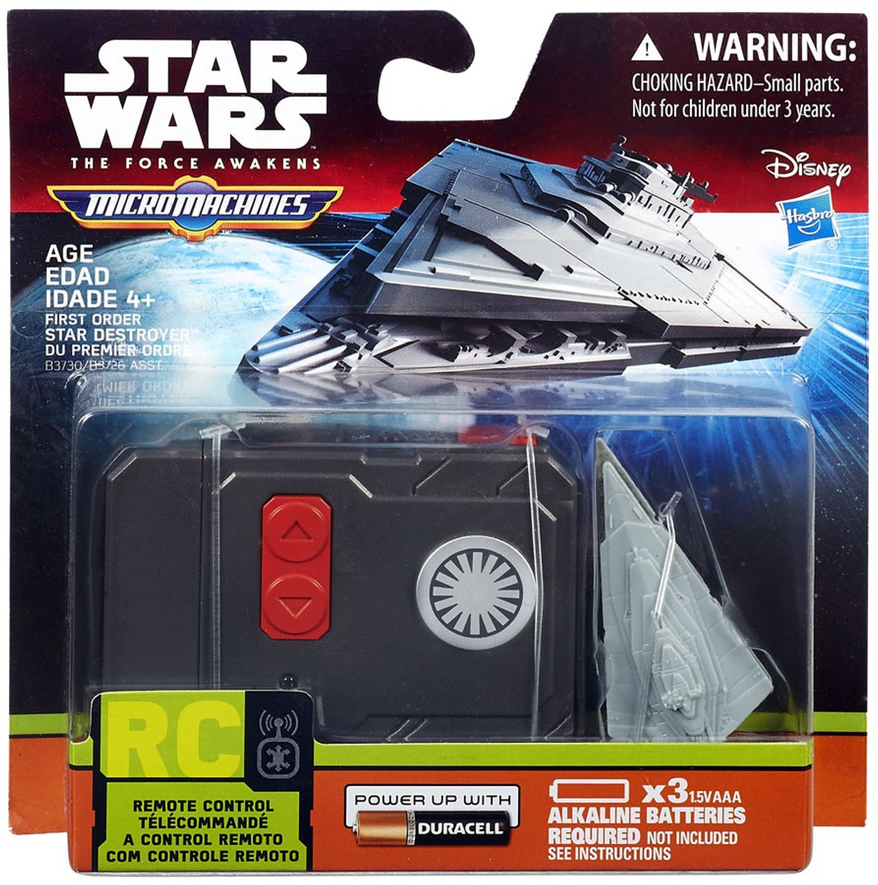 THE FORCE AWAKENS STAR WARS MICRO MACHINES REMOTE CONTROL STAR DESTROYER