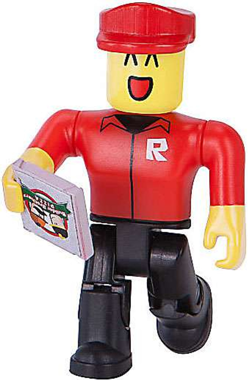Roblox Series 1 Pizza Delivery Guy With Pizza Pie Mini Figure No - roblox pizza place figures