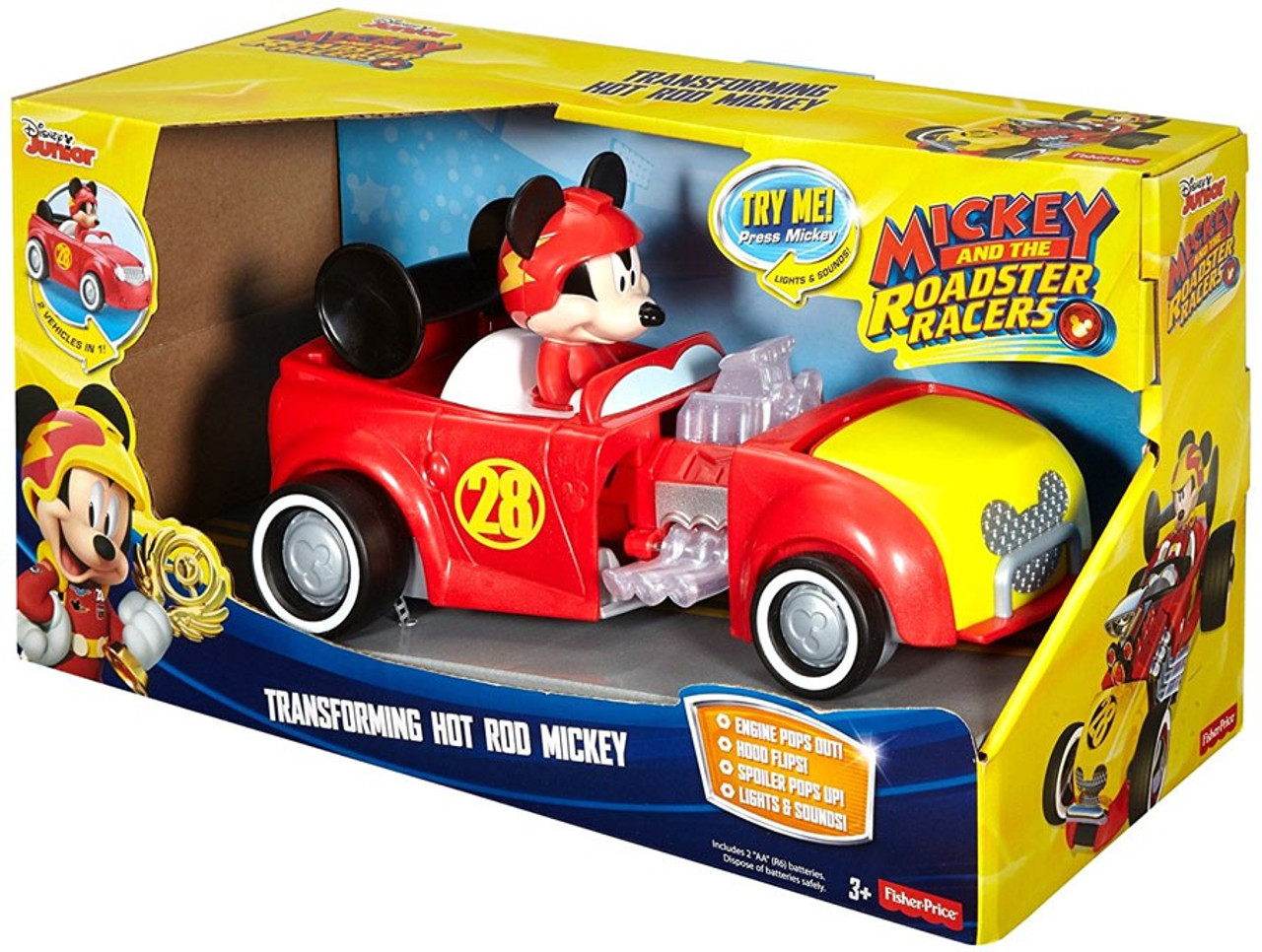 Fisher Price Disney Mickey Roadster Racers Transforming Hot Rod Mickey Vehicle Toywiz