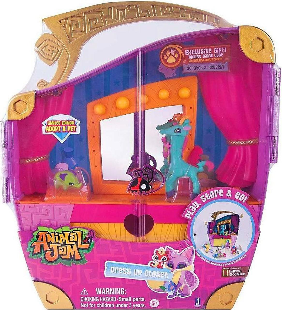 Animal Jam Adopt A Pet Dress Up Closet Play Set Jazwares ...
