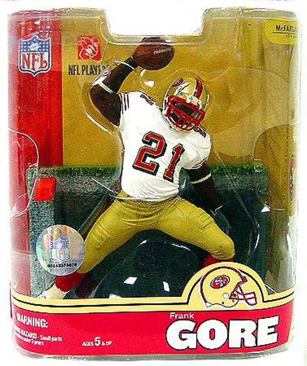 the latest c1c45 53442 McFarlane Toys NFL San Francisco 49ers Sports Picks Series 16 Frank Gore  Exclusive Action Figure [White Jersey Variant, Damaged Package, Damaged ...