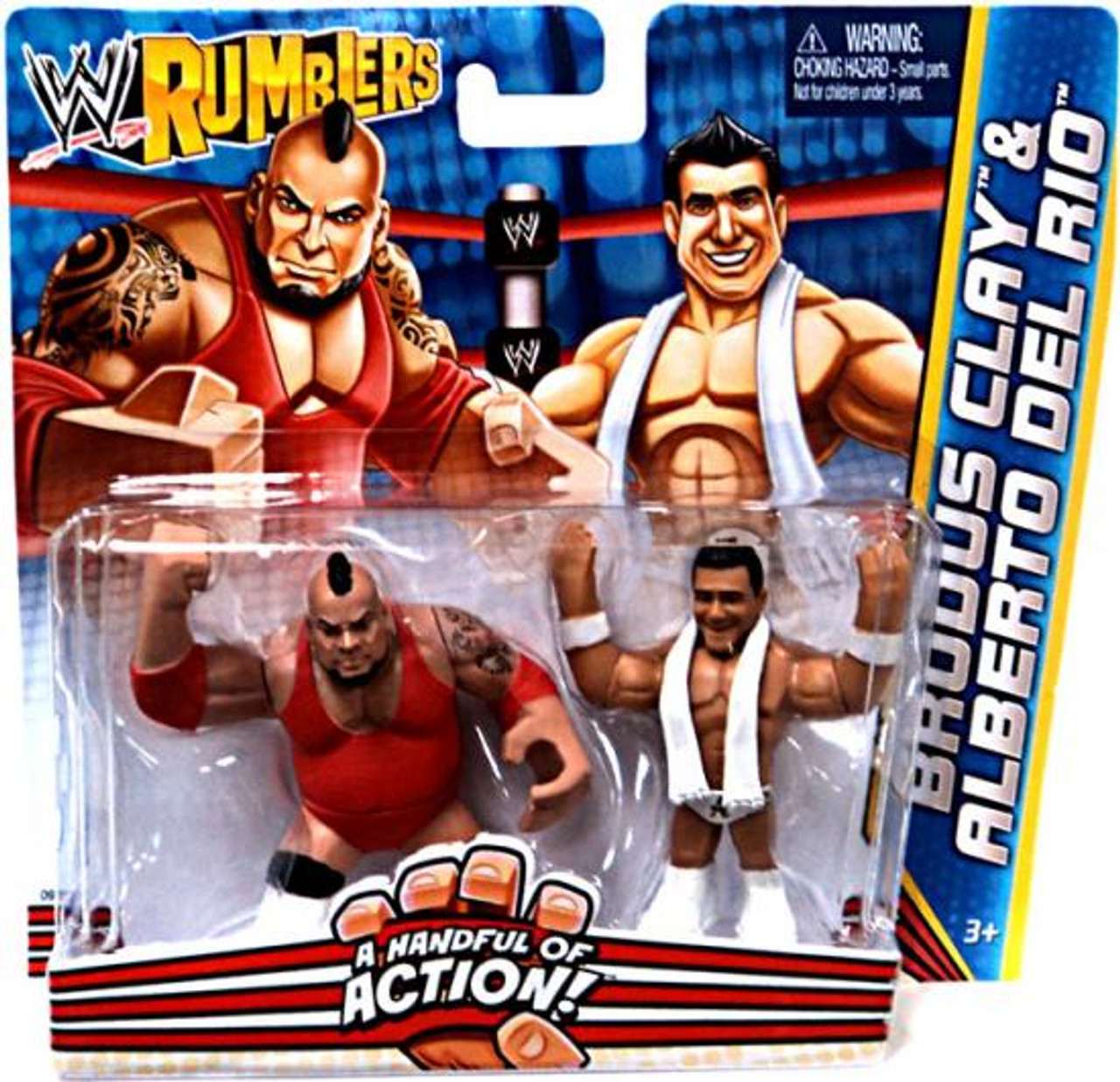 WWE Wrestling Rumblers Series 2 Brodus Clay & Alberto Del Rio Mini Figure  2-Pack [Damaged Package]
