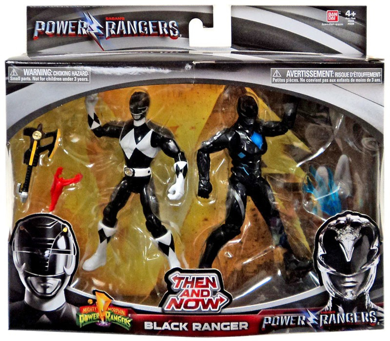 Power Rangers Movie Then And Now Black Ranger 6 Action Figure 2 Pack
