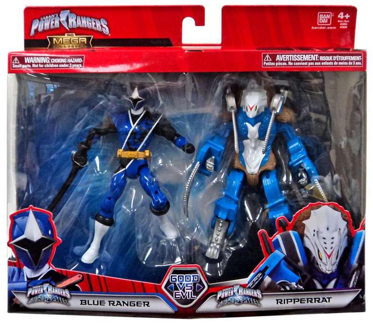 Power Rangers Mega Collection Good vs Evil Blue Ranger /& Ripperrat Action Figure Set Bandai America