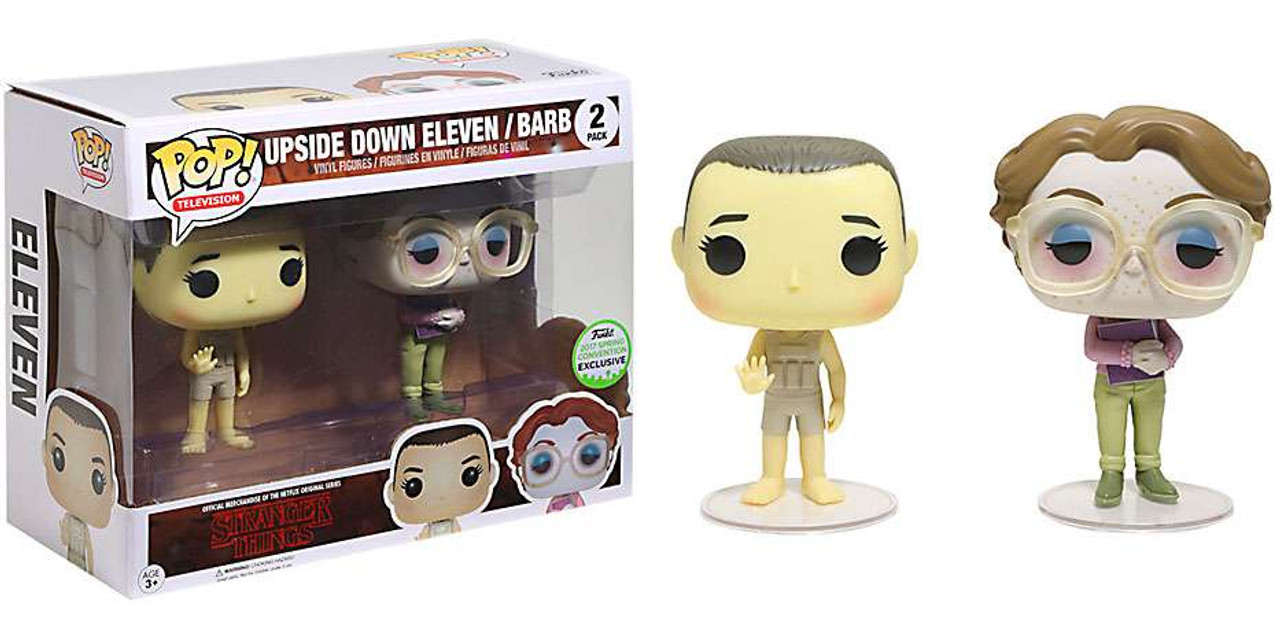 eae1e3ca30a Funko Stranger Things Funko POP TV Upside Down Eleven Barb Exclusive Vinyl  Figure 2-Pack - ToyWiz