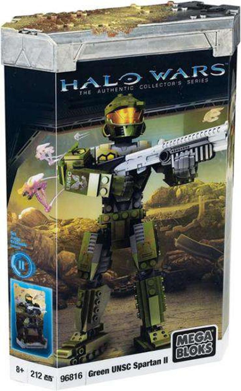Mega Bloks Halo Green UNSC Spartan II Set #96816 [Damaged Package]