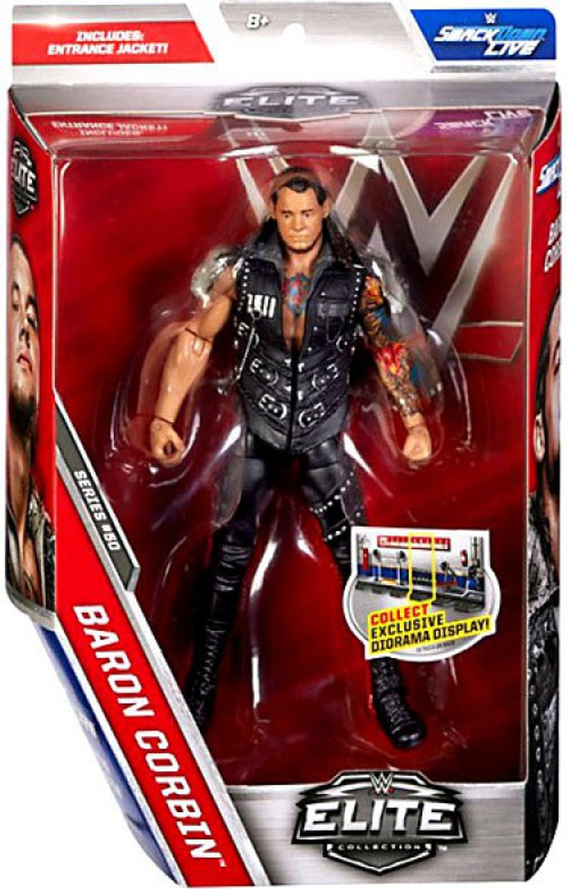 Mattel Series 50 w//smackdown tag title WWE Elite Flashback Rhyno Action Figure