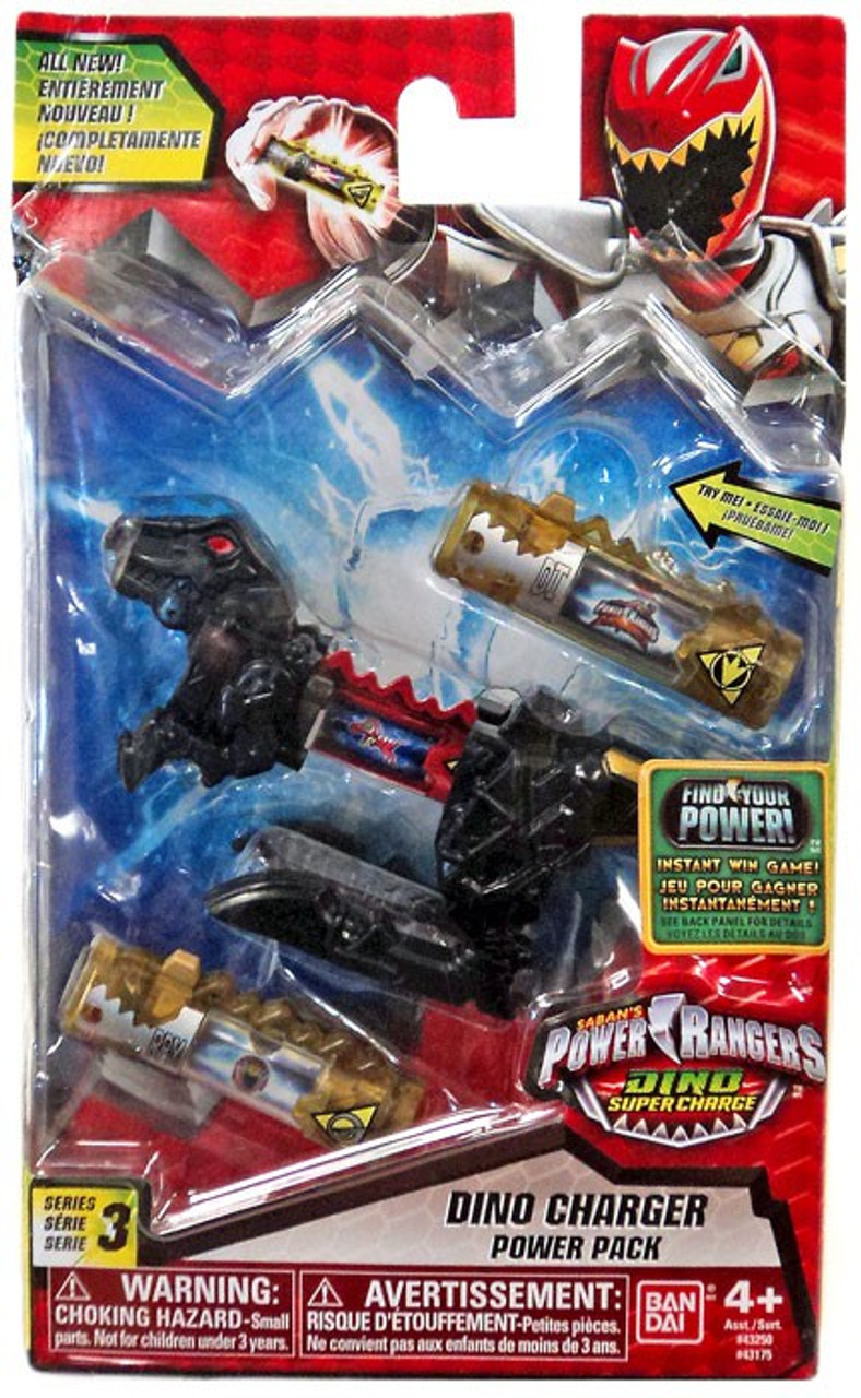 Power Rangers Dino Super Charge Series 3 Black Dino Charger