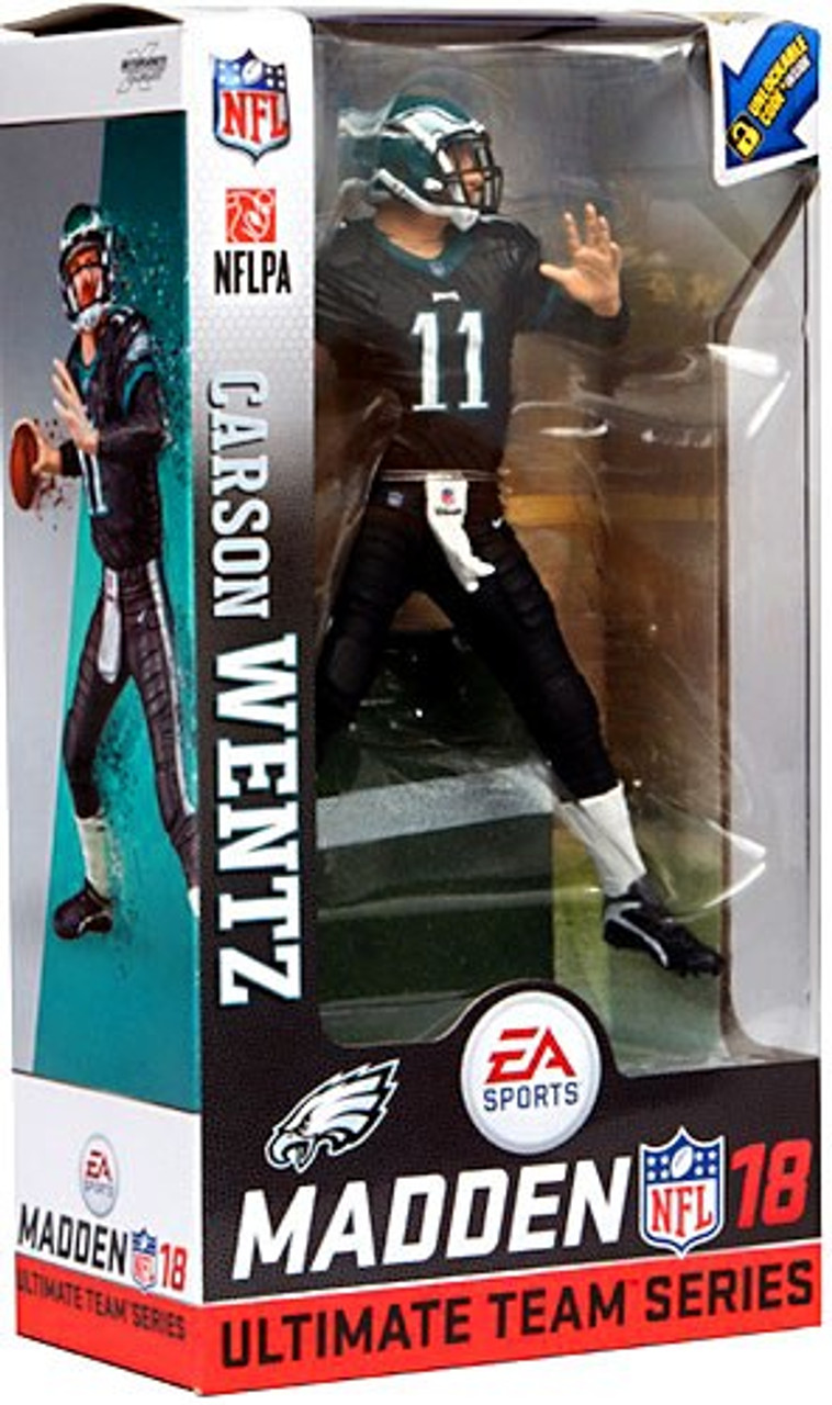 free shipping 1e508 b2203 McFarlane Toys NFL Philadelphia Eagles EA Sports Madden 18 Ultimate Team  Series 1 Carson Wentz Action Figure [Dark Green Uniform]