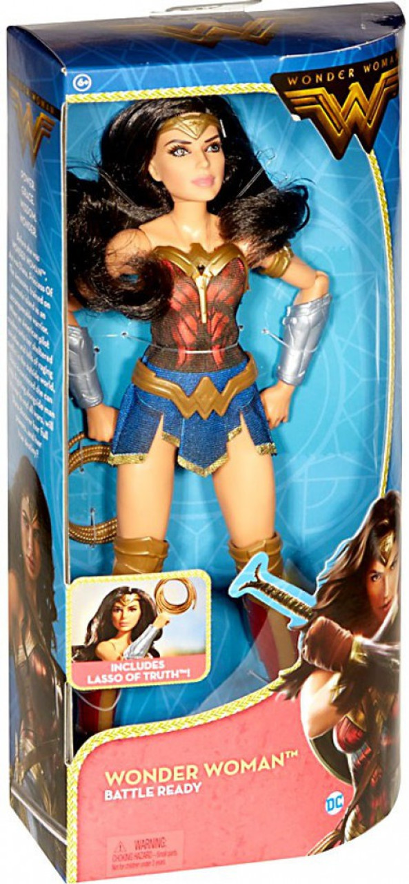 """DC Comics Wonder Woman Doll 12/"""" With Lasso of Truth Battle Ready New"""