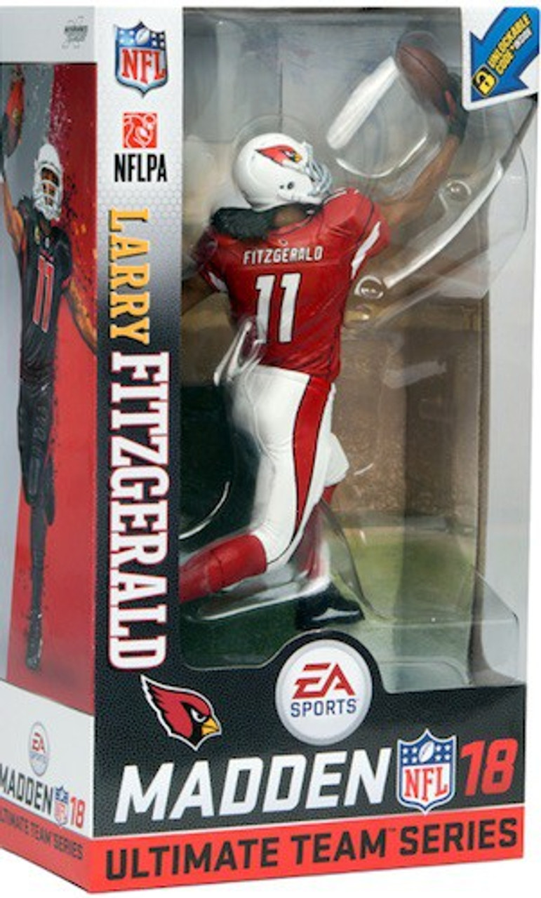 ce939f84e McFarlane Toys NFL Arizona Cardinals EA Sports Madden 18 Ultimate Team  Series 1 Larry Fitzgerald 7 Action Figure Red White Uniform Chase - ToyWiz