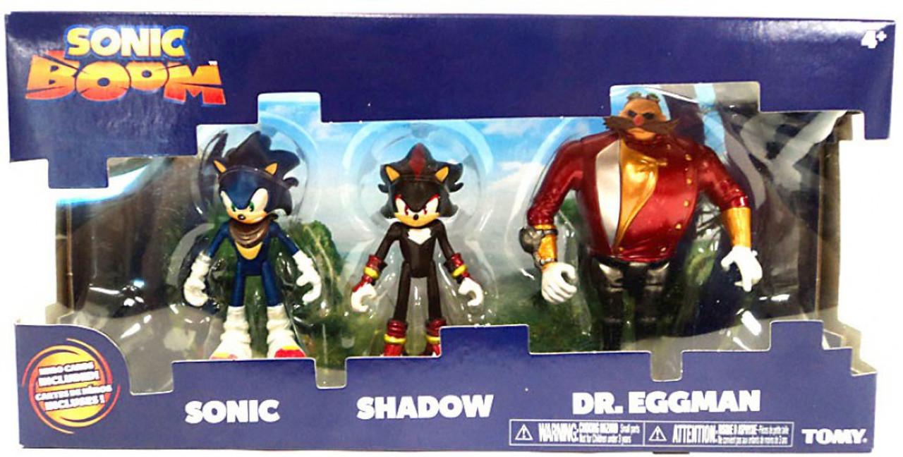 Sonic The Hedgehog Sonic Boom Sonic, Shadow, Dr  Eggman Action Figure  3-Pack [Metallic]