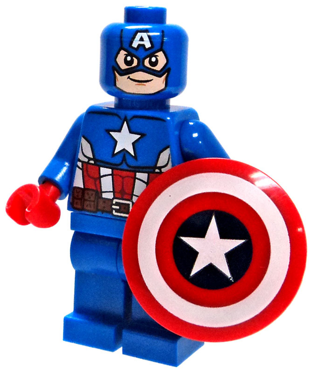 Lego marvel super heroes loose captain america minifigure version 2 loose toywiz - Lego capitaine america ...