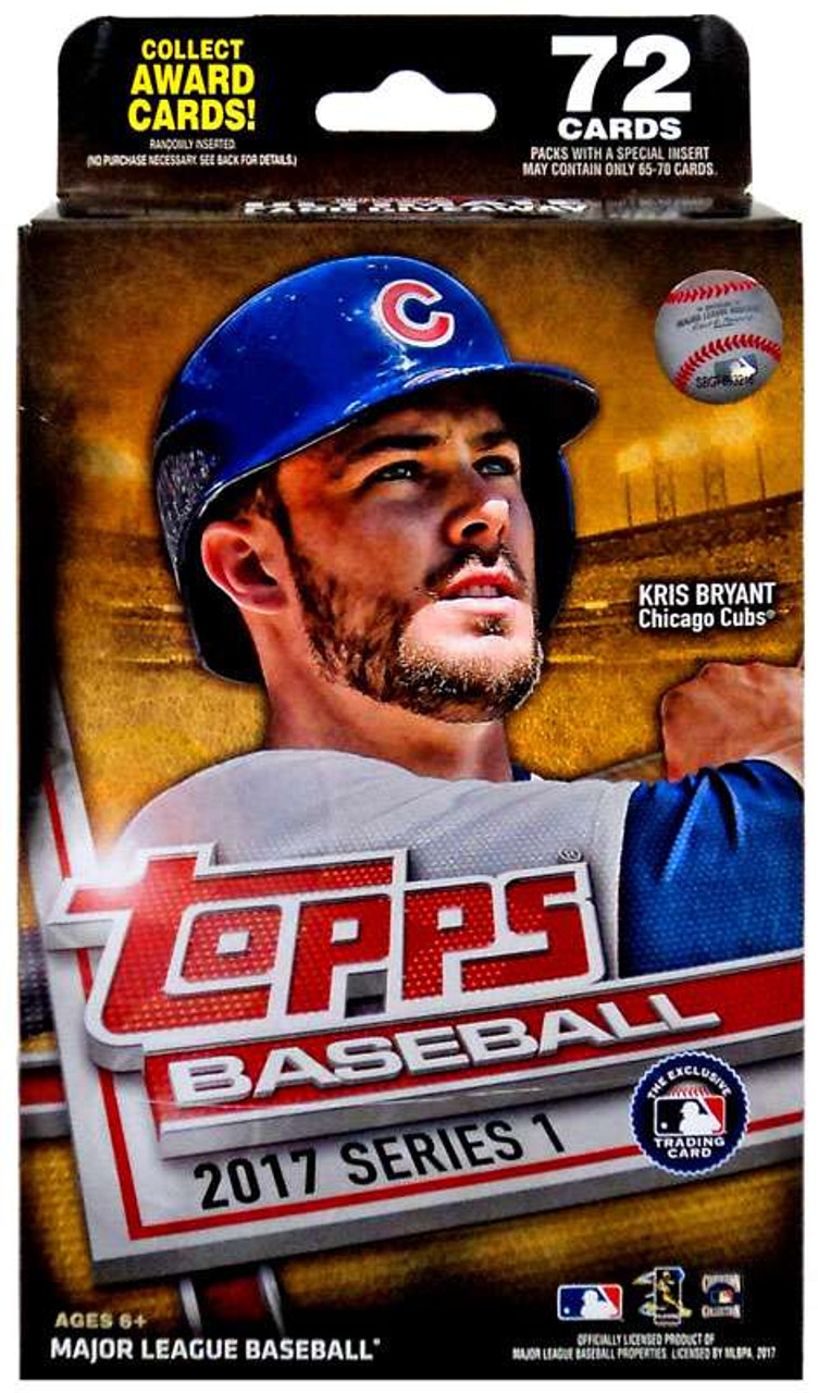 Mlb 2017 Topps Baseball Cards Series 1 Trading Card Hanger Box Toywiz