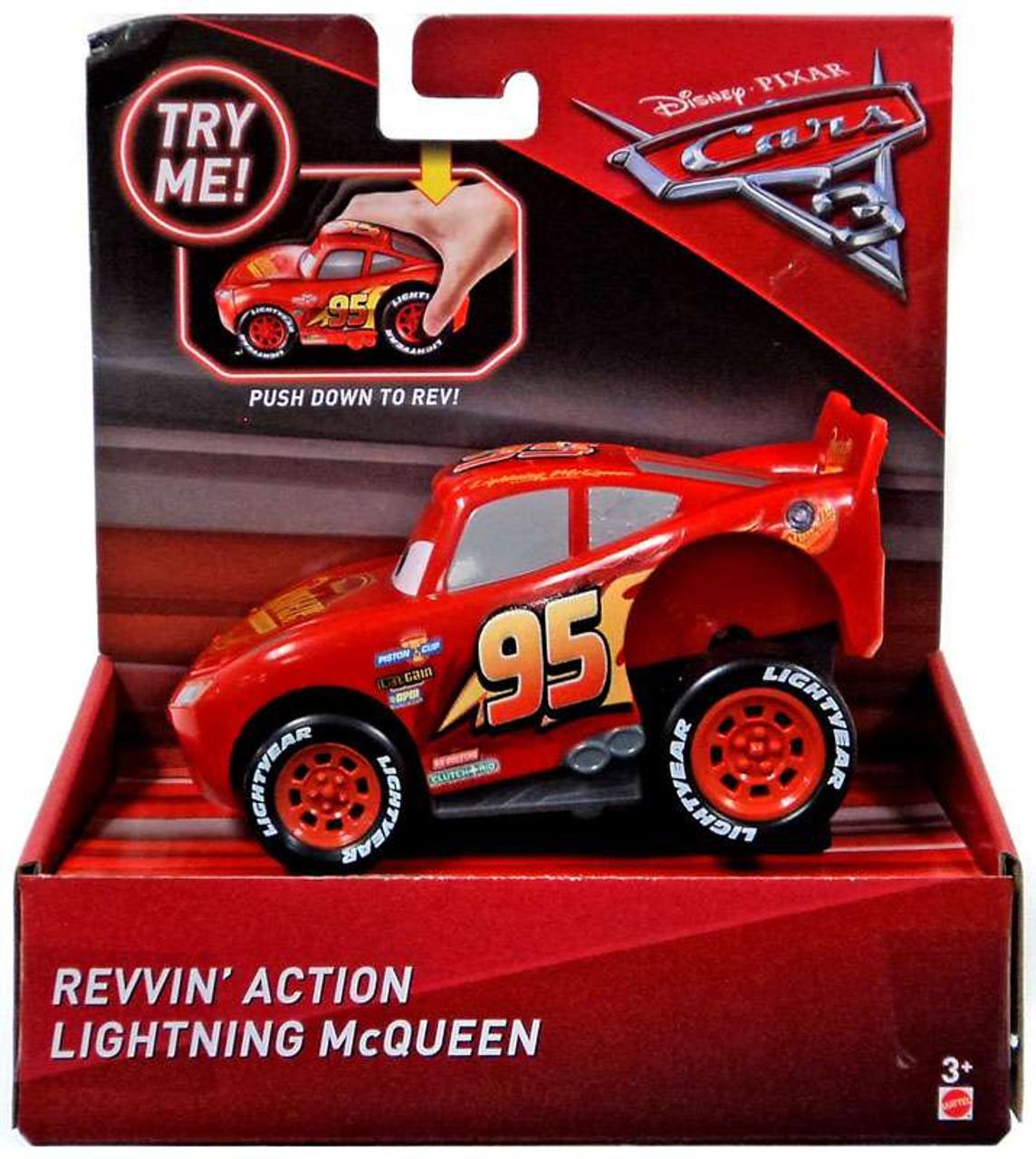 68bfe409f57 Disney Pixar Cars Cars 3 Revvin Action Lighting McQueen Vehicle Mattel Toys  - ToyWiz