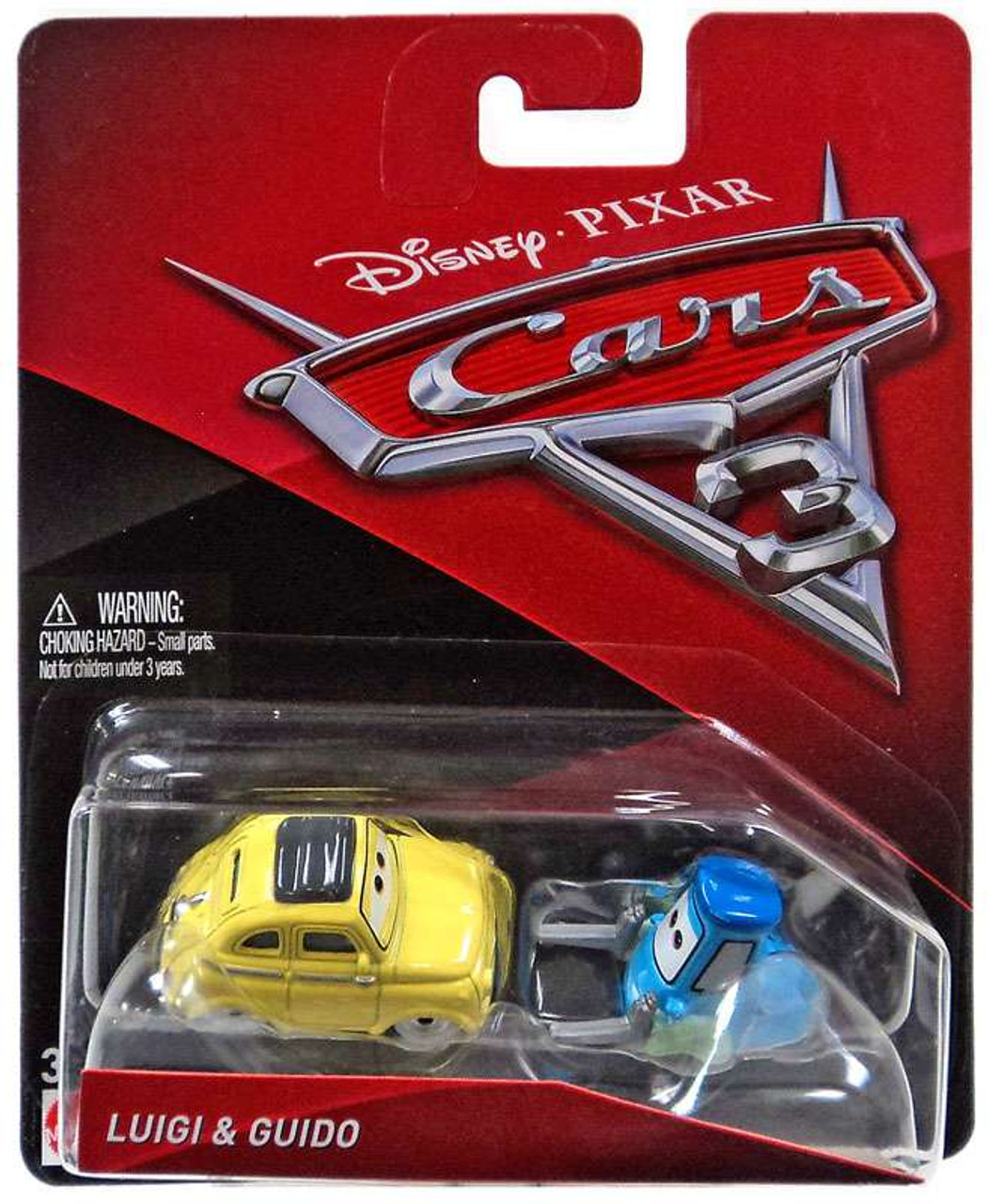 Disney Pixar Cars Cars 3 Luigi Guido 155 Diecast Car 2 Pack Mattel