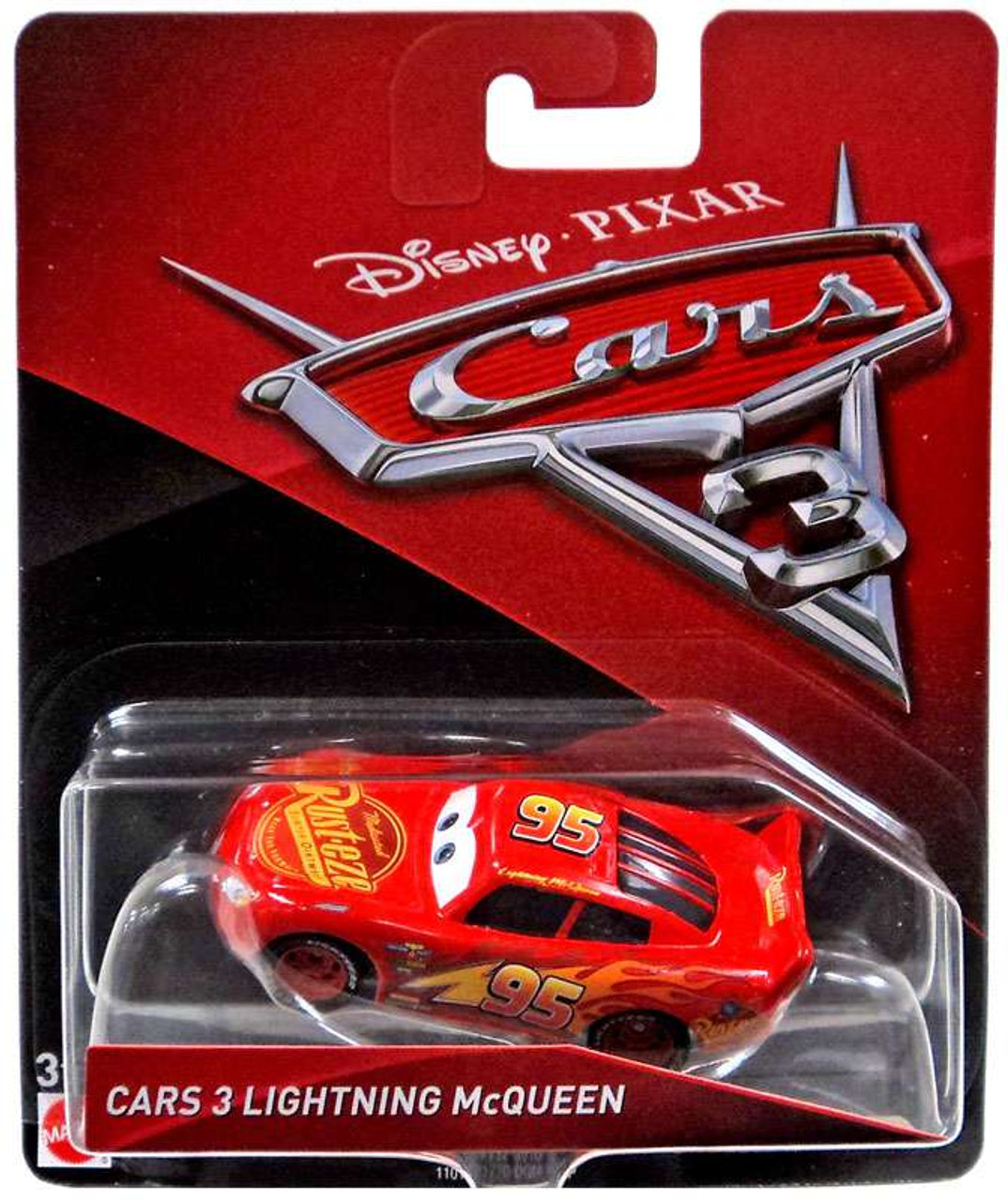 Disney Pixar Cars Cars 3 Lightning Mcqueen 155 Diecast Car Mattel