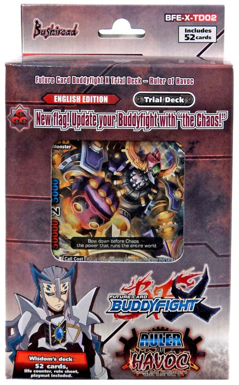 RULER OF HAVOC Trial Deck New and Sealed #M Buddyfight