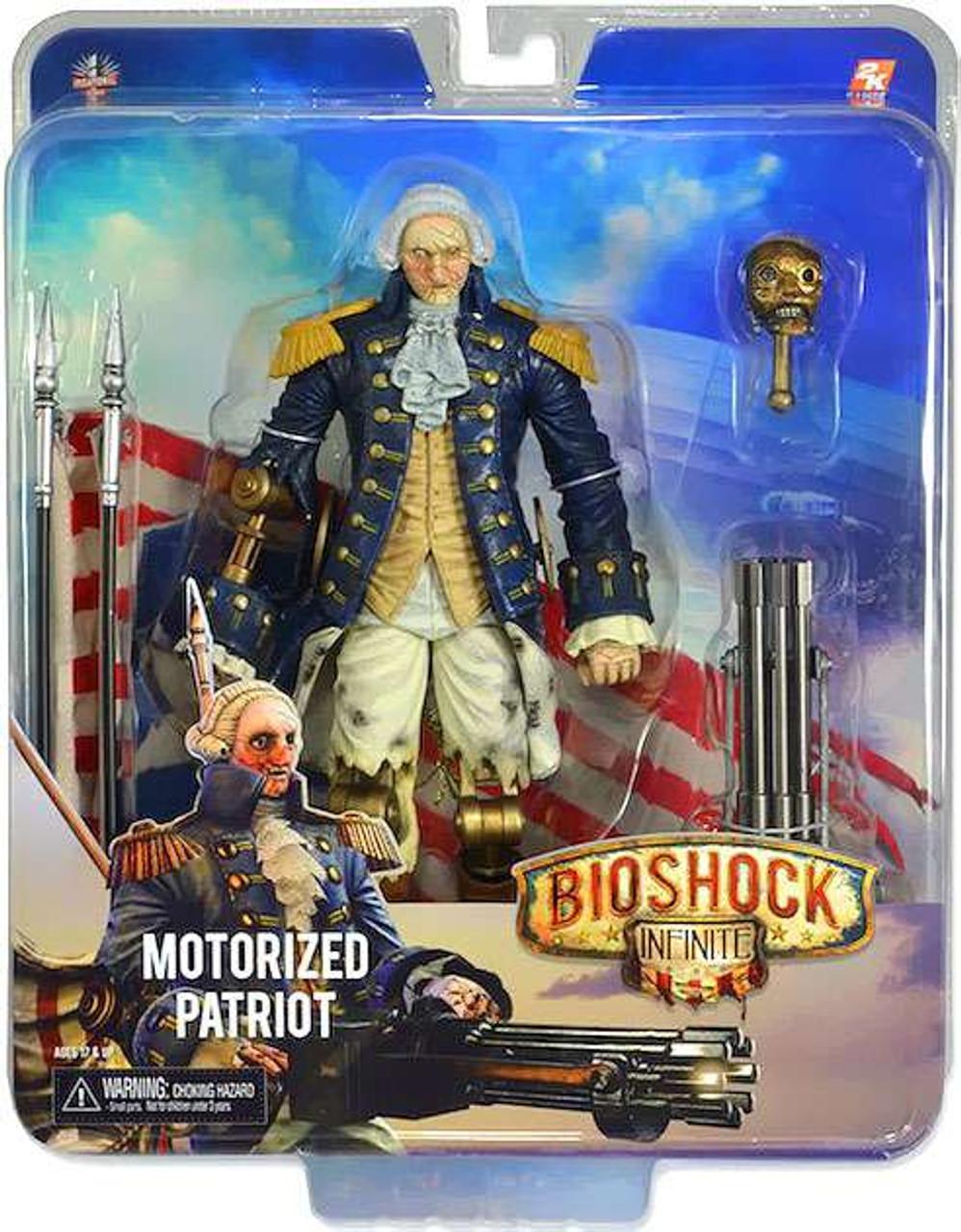 Neca Bioshock Infinite Motorized Patriot George Washington Action Figure Damaged Package