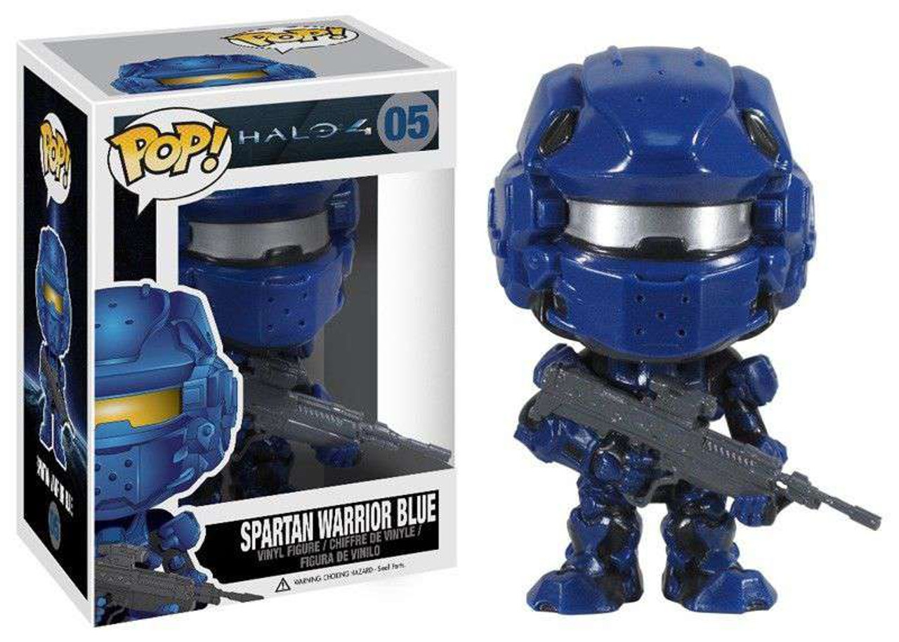 d70d13cd9ff Funko Halo 4 Funko POP Halo Spartan Warrior Blue Vinyl Figure 05 Damaged  Package - ToyWiz