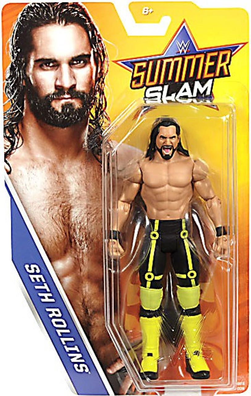 WWE SETH ROLLINS SHIELD RAW MATTEL BASIC SERIES 73 WRESTLING FIGURE ACTION NXT