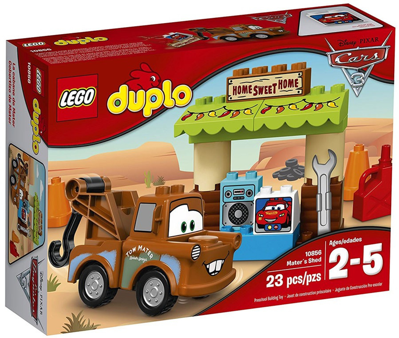 Lego Disney Pixar Cars Cars 3 Duplo Maters Shed Set 10856 Toywiz