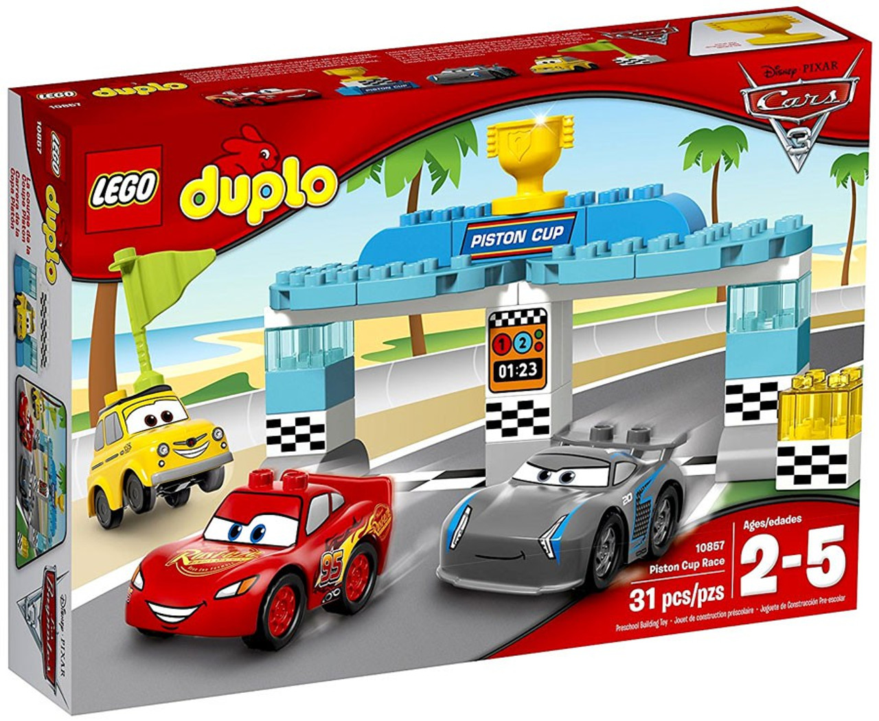 Lego Disney Pixar Cars Cars 3 Duplo Piston Cup Race Set 10857 Toywiz