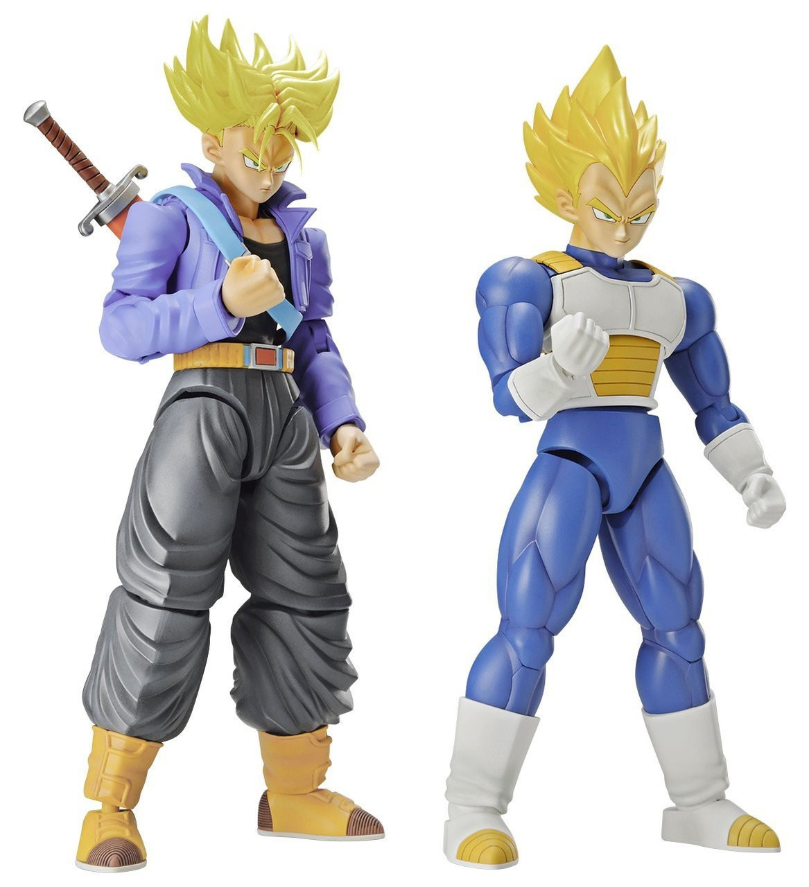 Dragon Ball Z Figure Rise Super Saiyan Trunks Super Saiyan Vegeta Dx Set Model Kit Figure