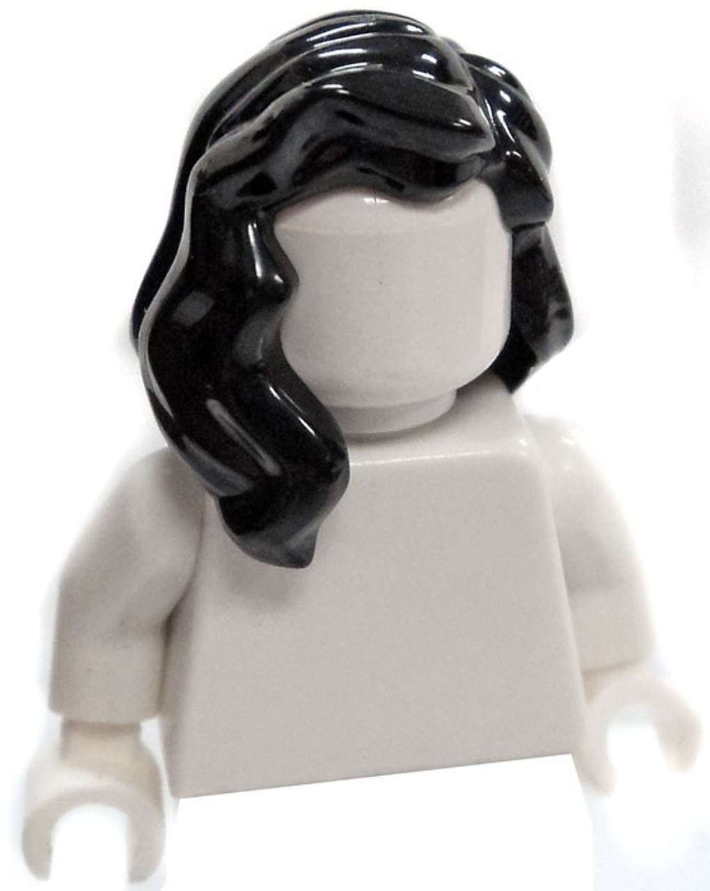 Lego Pigtail Minifig Hair x 1 Black for Minifigure