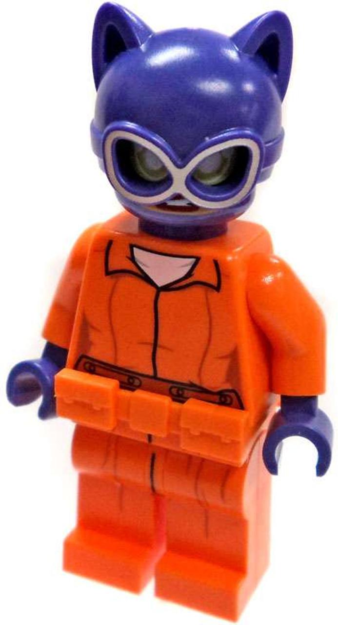 LEGO DC Arkham Prison Jumpsuit Joker Minifigure Loose